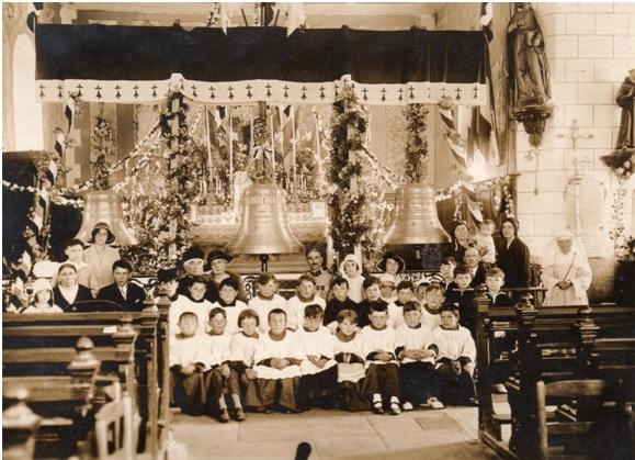 cloches église de damgan bénédiction 1931