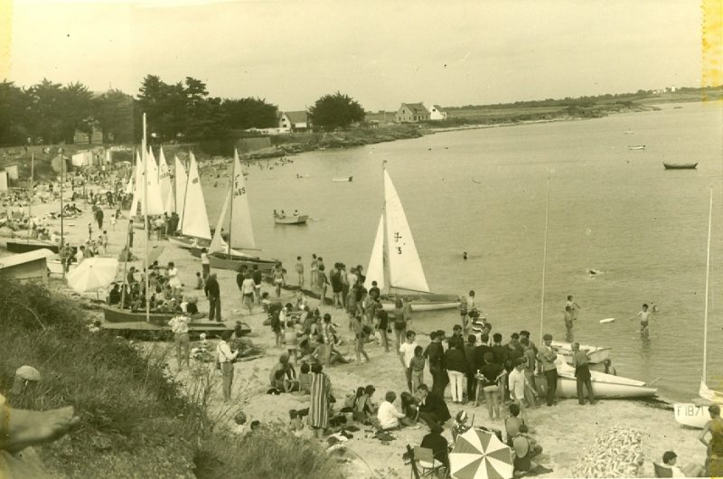 Régate à Kervoyal en 1965