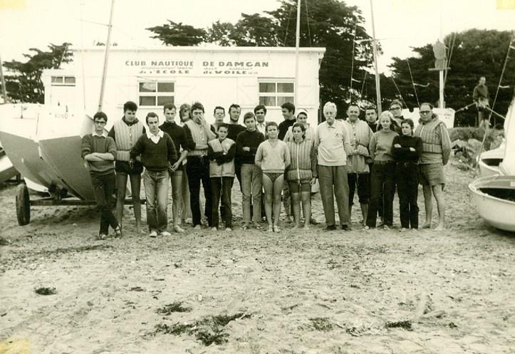 l'Ecole Française de Voile à Damgan en 1968