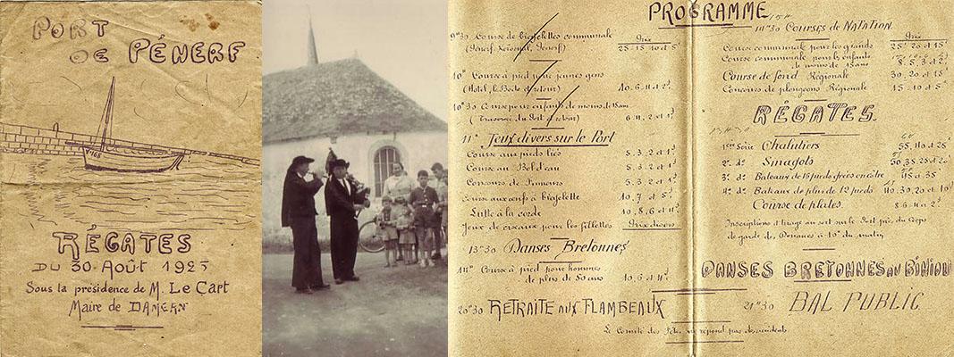 Affiche et programme des régates de 1925 Port de Pénerf