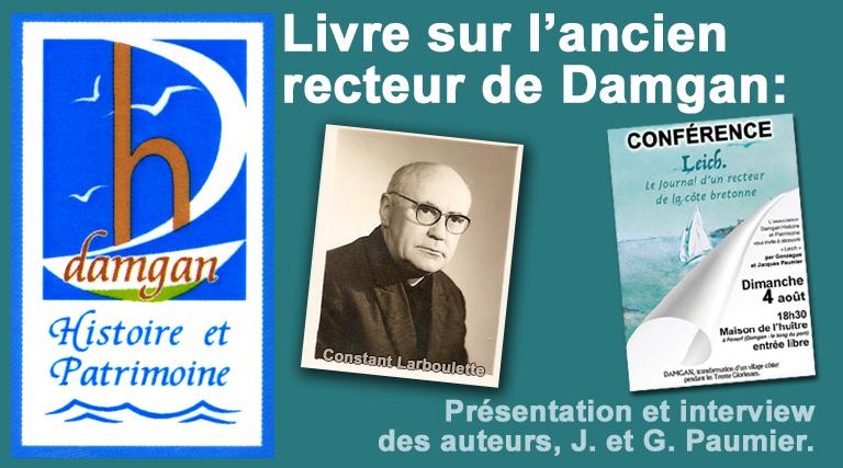Conférence et livre sur l'ancien recteur de Damgan