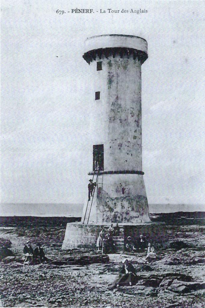 La tour des Anglais à Penerf en 1925